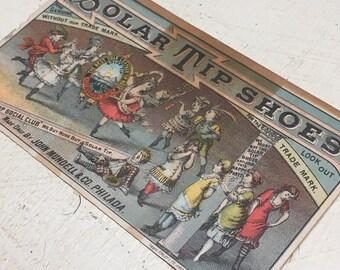 SALE! Antique Solar Tip Shoes Advertising Card