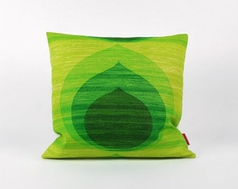 Green Mid Century Modern Decorative Couch Pillow by EllaOsix - throw pillow cover - accent pillow - pillow cover 16x16
