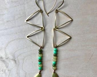 Triangle ladder earrings