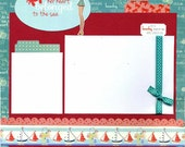 Her Heart Belonged to the Sea - Premade Scrapbook Page