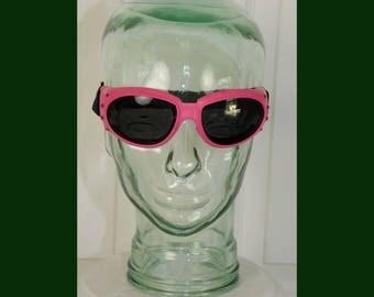 Vintage 1980's  New Wave Goggle Sunglasses Adjustable Strap