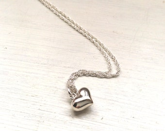 Gift for her, ladies gift, Necklace, jewellery, jewelry, silver heart, silver chain, Bridesmaids present, Christmas presents