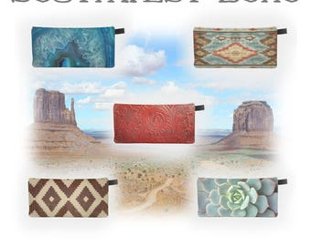 Southwest Boho Starter Pack New Stockist Special Zip Clutches Cosmetic & Pencil Cases Bohemian Prints Makeup Bag