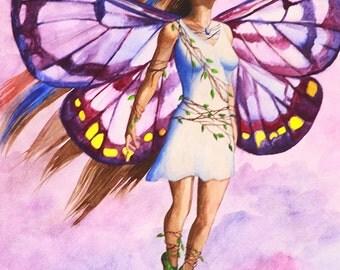 Purple Fairy - Fine Art Print - 7x10