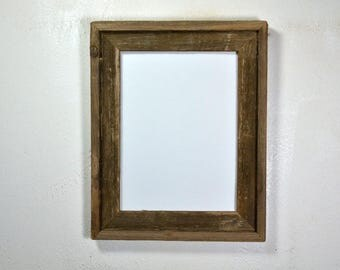"9"" x 12"" picture frame from earth friendly reclaimed wood"