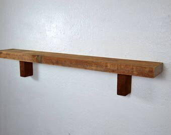 "Farmhouse shelf reclaimed barnwood 34"" x 5"" x 5.5"""