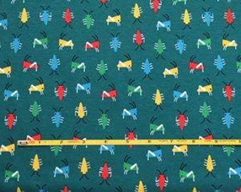 "NEW Cloud 9  Bug's Life on Green  Organic Cotton Interlock 54"" wide per yard"