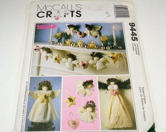 McCall's Crafts Angel Tree Topper, Wall Hanging, Ornaments, And Garland Pattern 9445