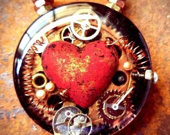 The Big Copper Heart Pendant no.2