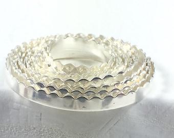 Fine Silver .999 scalloped Bezel 3 ft, 1/8 Inch 26 Gauge for thinner stones