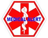 3 medical alert cases with emergency label