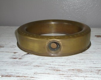 Vintage solid brass / metal stationary round ring type lawn sprinkler