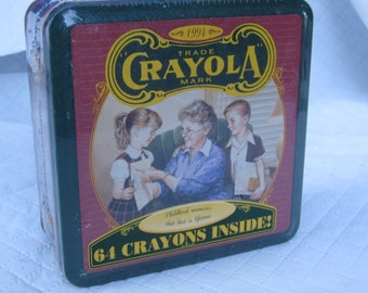 1994 Unopened Box Crayola Crayons in Collectable Tin