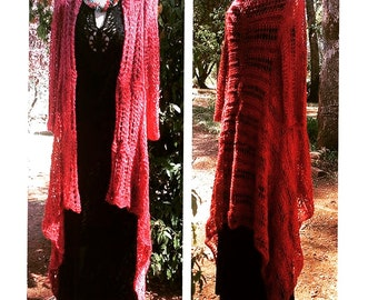 Carly Waterfall Duster Knitting Pattern