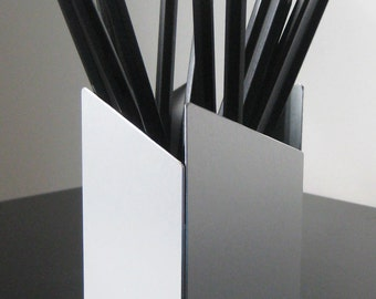 Modern Metal Asymmetrical Pen/Pencil Cup