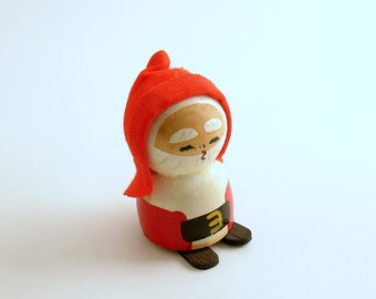 Vintage Wood Santa Claus Christmas Decoration