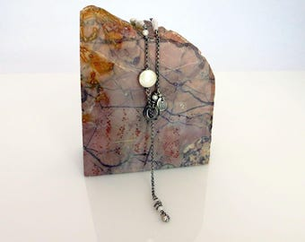 rustic freshwater pearls, fine and sterling silver urban chic lariat