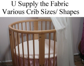 Custom Crib Bedding Made From Your Fabric...... Labor Costs Only.... This is a Sewing Service Listing.... Not a pre-made item