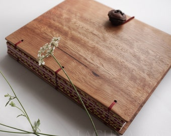 Lined Notebook Diary Dark Wood covers Pink