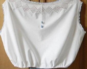 Vintage crochet camisole chemise for reenactments rendezvous 100% cotton