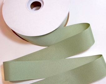 Green Ribbon, Light Green Grosgrain Ribbon 1 1/2 inches wide x 10 yards, Offray Spring Moss Green Ribbon