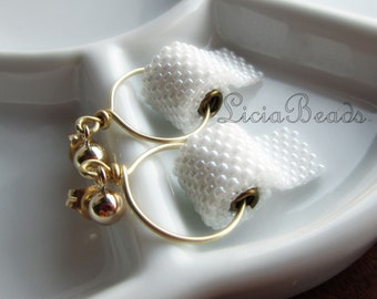 Toilet Paper earrings on 14k gold filled stud post earrings, allow up to 2 weeks before shipping