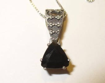 Tektite Pendant Necklace in Sterling Silver - Your Own Falling Star!