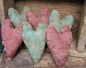 Primitive Valentine Simple Old Worn Valentines. PRIVATE LISTING ONLY
