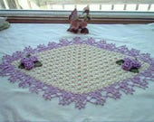 Victorian Rose Garden Centerpiece Runner Crochet Thread Art Doily Reserve for Rhonda, rhondahhartwig395