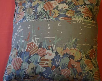 """17"""" cushion cover collier Campbell fabric Water Meadow col. 14"""