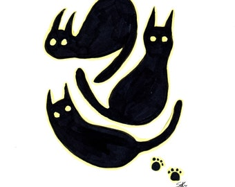 Three Cats 8x10