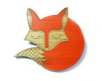 Fox Brooch, Fox Jewellery, Fox Gift, Fox lover Gift, Woodland Brooch, Valentines Day Gifts UK, Foxy Gifts, Animal Brooch, Laser Cut Brooch