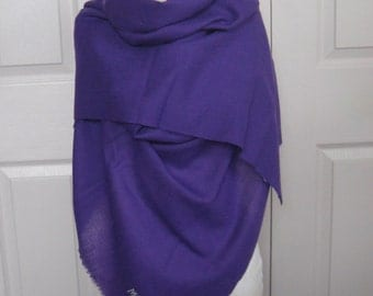 purple shawl . woven purple shawl . purple wrap . deep purple shawl