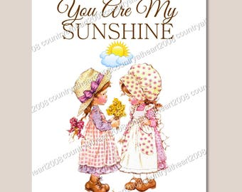 Instant Download -You Are My Sunshine-  Digital Download - Printable  Digital Collage Sheet