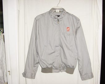 Vintage 80s Mens Gray Jacket Trane MO Style L As Is