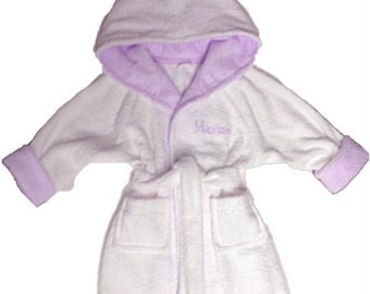 Handmade personalized todder bathrobe