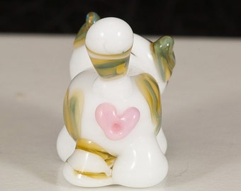 Valentine Cat Butt Lampwork Bead