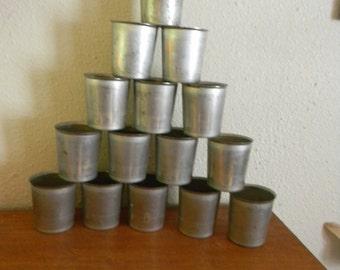 Metal Votive Candle Molds