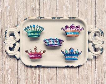 Catherine - crown brooch - crystal brooch - Crown pin - crown jewelry - crowned jewels - crown charm - royal crown