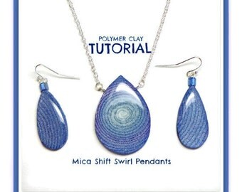 Polymer Tutorial- Extruded Mica Shift  Polymer Clay Tutorial Pendants- Beginner Tutorials Polymer Clay Jewelry