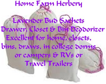 Lavender Bud Sachets Drawer, Closet and Bin Deodorizer, FREE Shipping