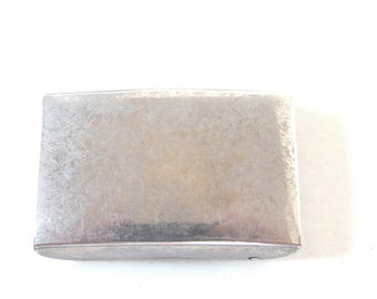 Women's Vintage 1980's Silvertone Military Style Buckle