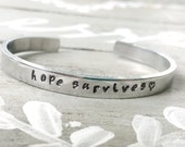 hope survives - hand stamped cuff bracelet