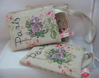 Paris Rose Wrist Bag