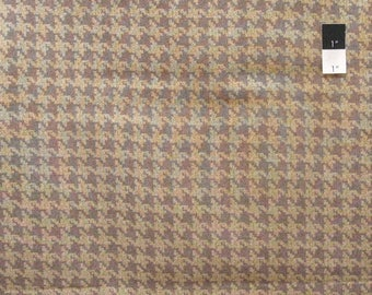SALE VIP Houndstooth Brown Cotton Fabric By Yard