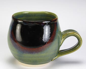 Jade Green Brown Spot Bubble Cup