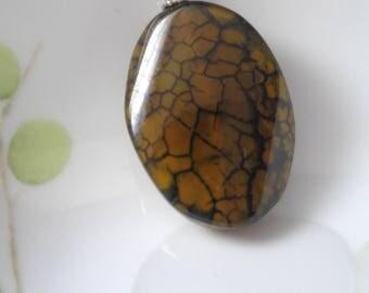 Dragon Vein Agate Necklace, Agate Pendant Necklace, Green Pendant , Stone Pendant Necklace, Gemstone Pendant Necklace