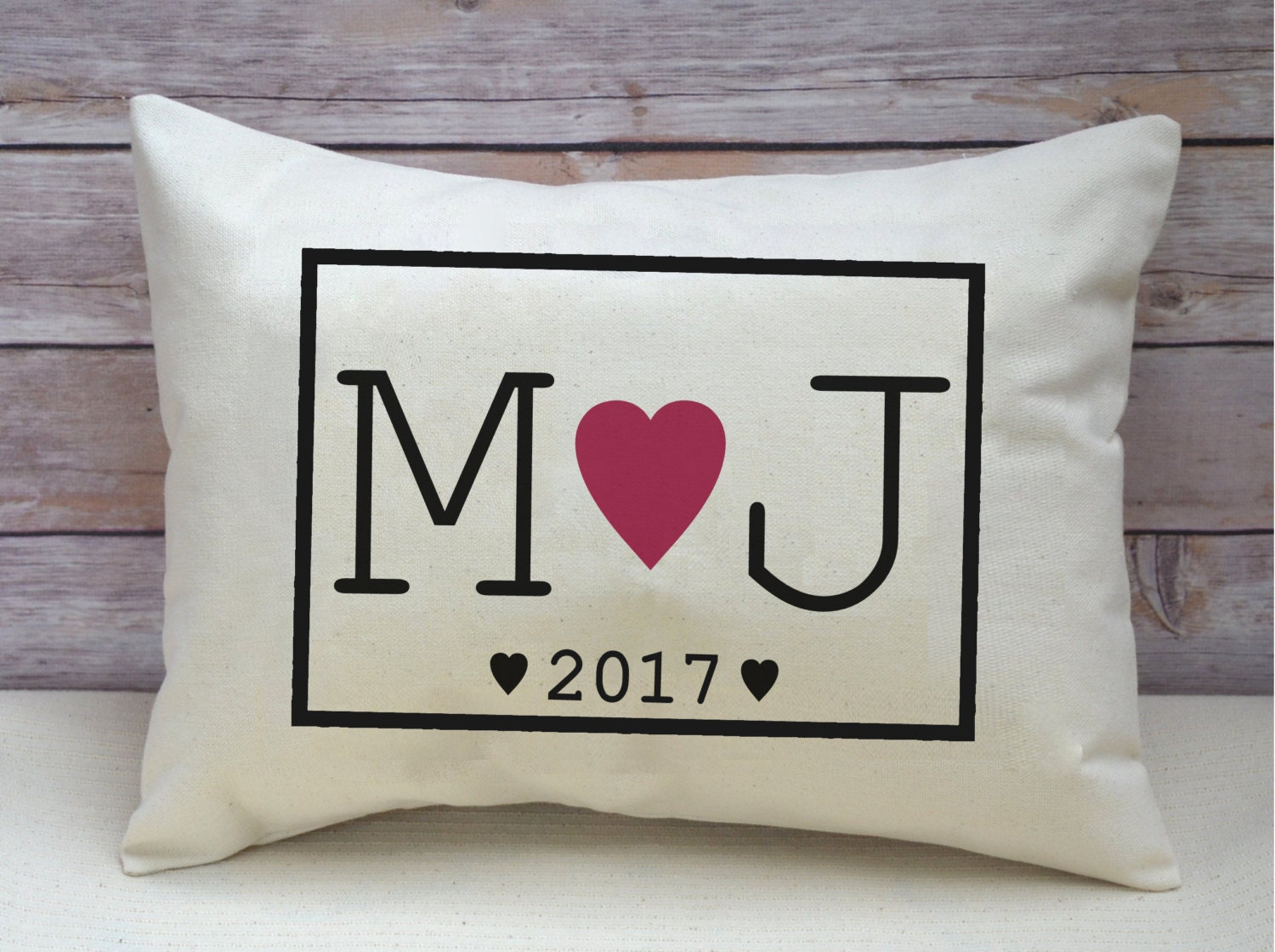 Ruby Wedding Gifts For Her: Cotton Anniversary Pillow 2nd Anniversary Ruby Wedding Gift