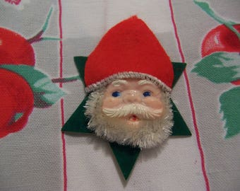 adorable santa head ornament