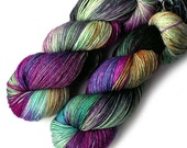 NEW Merino Sock Yarn Handdyed, 433 yards, MidCentury Flower Power
